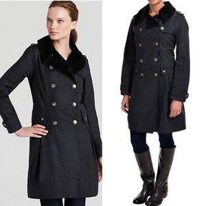 Barbour Regiment Navy Waxed Pea Coat